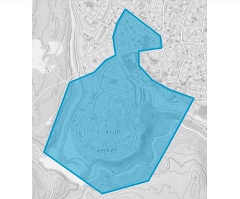 FLYTENDE KRETS: Endelig forslag til område der elevene skal ha både Sørli og Rotnes skoler som nærskole. Området inkluderer Trekullveien, som ikke var med i høringsutkastet, i tillegg til Kruttverket sør for turveien til Sagerud.