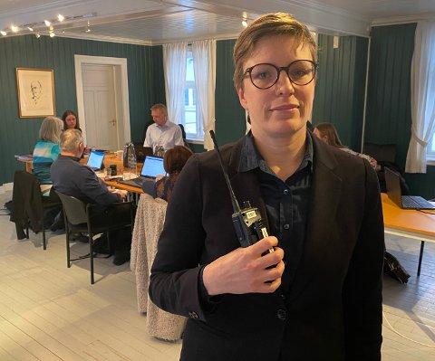 Ga og fikk ros: Kommuneoverlege Elisabeth Richter både ga og fikk ros i kommunestyret. Hun har høye forventninger om at Hamarøy kommune skal komme seg godt ut av koronakrisen.