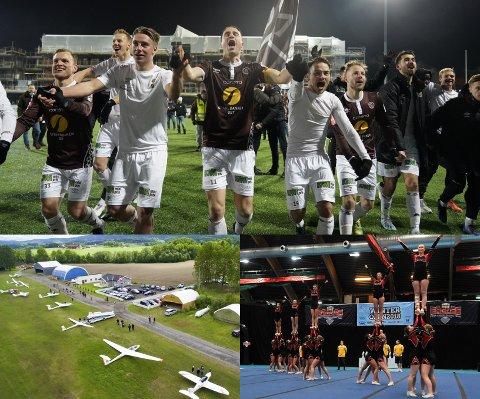 JULEGAVER: MIF, Drammen Flyklubb i Hokksund og Eiker Cheer Team er tre av i alt 28 lag og foreninger i Eiker som nå får momskroner inn på konto.