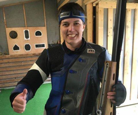 VESTLANDSSTEMNET: Reidun Kristin Knapstad hevda seg i toppen på Vestlandsstemnet som vart arrangert i Kråkenesmarka i helga.
