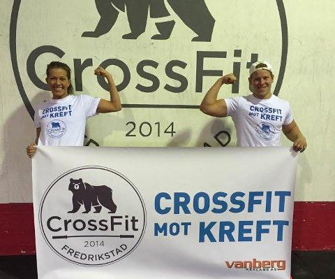 KLARE: Sara Olavesen og Henrik Walter Pettersen er klare for Crossfit mot kreft. (Foto: Privat)