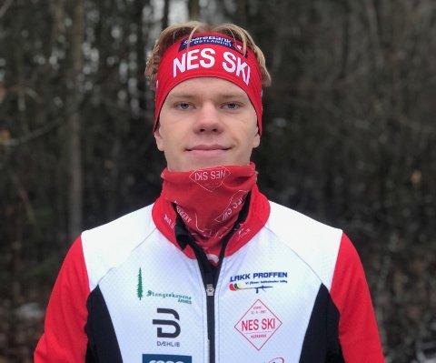NYE TIDER: Denne vinteren vil Filip Glittenberg Holt representere Nes Ski.
