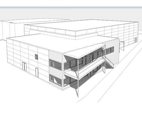 Kobles på hallen: Bjørkelangen Sportsforenings nye klubbhus skal bygges i tilknytning til Bjørkelangen Sportshall.