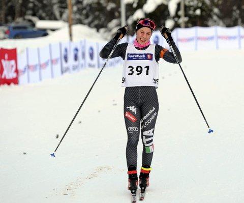 TIL TOPPS: Guro Femsteinevik både gjekk fort og skaut bra då ho gjekk til topps i sesongopninga på Geilo.
