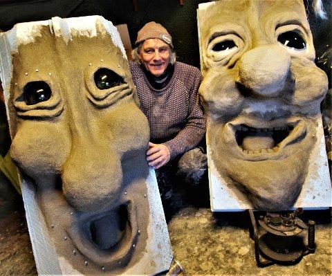 NISSEFAR: Leif Rubach bobler av ny kreativitet etter at han fikk nisseoppdraget.