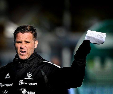 PLANEN KLAR: Sarpsborg 08 assisttrener Tom Freddy Aune og laget har planen klar for å slå Kongsvinger i 3. runde i cupen. Foto: Jarl Morten Andersen