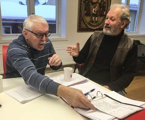 SPENNENDE: Hans O. Grønli og Ole Gunnar Folde gleder seg til å presentere boka om Børre Langland.