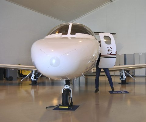 MINDRE PÅ VINGENE: Bergen Air Transport sine fly har vært mindre på vingene. ARKIVFOTO: SVEIN TORE HAVRE