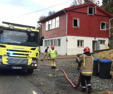 Brannen i dette huset forårsaket skader for over én million kroner.