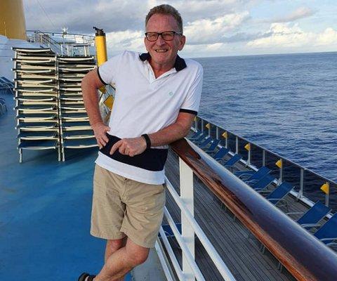 Rune Jenssen (56) forteller at havet har vært det meste av utsikt den siste uken. – Vi har kun sett tre båter, ellers skjer det veldig lite.