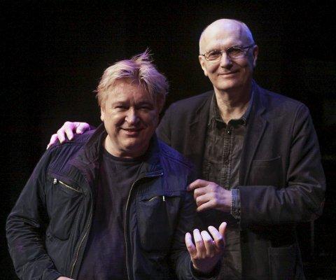 Sammen igjen: Svein Gundersen (til høyre) har skrevet Jørn Hoels signaturlåt «Har en drøm». Nå skal Hoel være med i Kulturværstes julebordhow. Foto: Silje Louise Waters