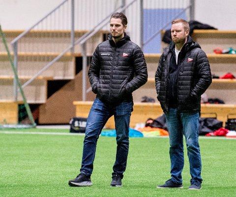 Joacim Heier og Jostein Lunde skal sammen med flere andre i FFK-apparatet sikte seg inn på rett kandidat til den nye stillingen som salgs- og markedsleder.