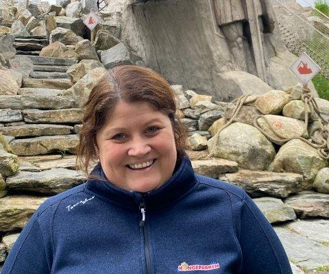 Therese Oddsen er daglig leder i Kongeparken og er fornøyd med hvordan åpningen har vært siden parkåpningen den 1. mai.