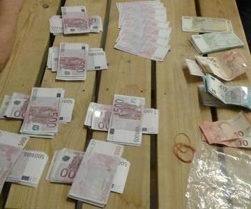PENGER: 96.160 Euro eller 885.000 norske kroner ble beslaglagt av tollerne.