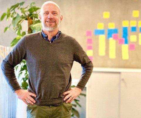 SKAL VOKSE VIDERE: Daglig leder Jørgen Bratting sier til iHarstad at Resight har vært gjennom en fantastisk reise. Omsetningen er nær doblet bare fra 2018 til 2020 - fra 15 til 28 millioner kroner, og det samme er ansatt ansatte. I 2022 skal Harstad-avdelingen ha 25-26 ansatte.