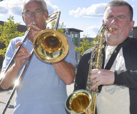 Klare: Jostein Kopperud (t.v.) og Wiktor Starzak og Sørum storband erblant aktørene som spiller i kultursalen i høst.