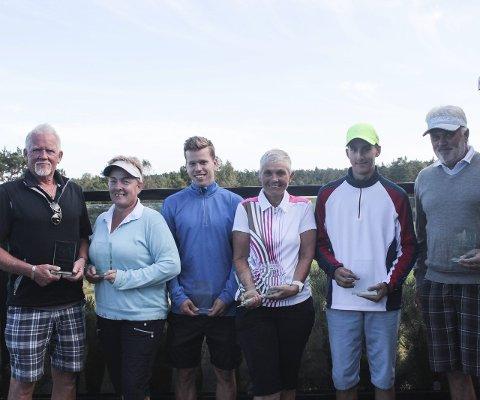 De beste: Samtlige vinnere i de forskjellige klassene under klubbmesterskapet. Alle foto: Maren Olava Ask Knutsen
