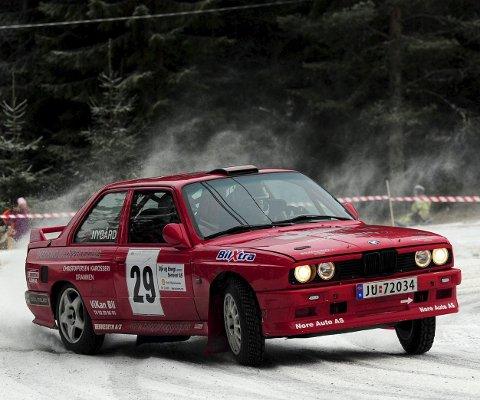NORGESMESTERE: Jan Egil Halland og Anders Nygård har blitt norgesmestere i nasjonalklassen. De stiller i rallysprinten i Flesberg lørdag.ALLE FOTO: OLE JOHN HOSTVEDT