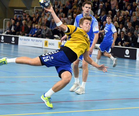 GOD: Aksel Strupstas var sterk på linja og scoret fem mål på seks forsøk. 21-åringen ble også kåret til BSKs beste spiller.