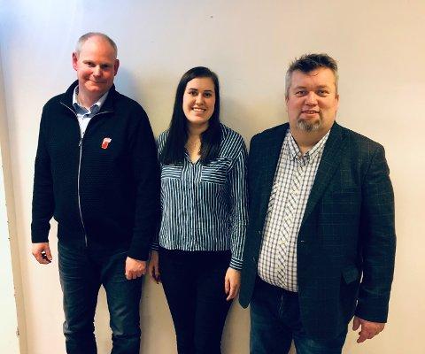 TOPP TRE: Øystein Andreassen (t.h), Guro Haremo Andreassen og Norodd Jemtland er topp tre på Gjøvik Frps valgliste. (Foto: Gjøvik Frp)