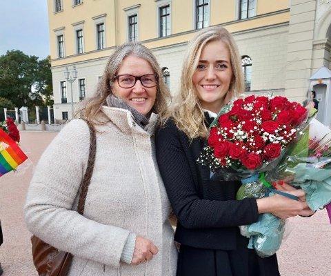 Ellen Enger Müller sammen med datteren Emilie Mehl som ble utnevnt til Justisminister torsdag.