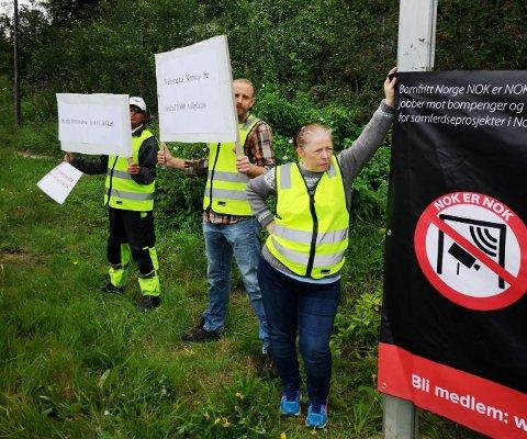 Demonstrantene som var med på aksjonen i forbindelse med langløpet, føler deg dårlig behandlet av vaktene på Figgjo.