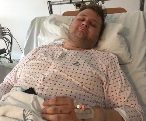 Heldigvis ble ingen alvorlig skadet i ulykken. Peder Hulthin ble innlagt på sykehus for kontroll, men kunne selv gå ut av bilen sin etter ulykken.