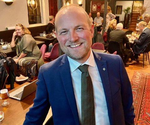 FORNØYD: Ole André Myhrvold og Senterpartiet gjorde et brakvalg i Indre Østfold