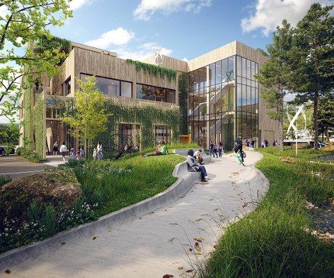 SIGNALBYGG: Arkitektkontoret 4b vann arkitektkonkurransen for vitensenteret på Kaupanger. (Illustrasjon Arkitektkontoret 4b)