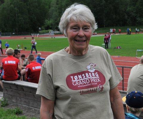 GODT FORNØYD: Grete Rivenes oppnådde både sølvmedalje og norsk bestenotering.