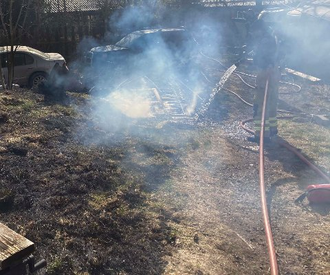 FIKK SLUKKET: – Brannen spredde seg fort, opplyser brannvesenet.