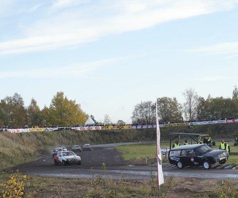 Kjører NM: Alexander Hauglid ligger her på en andreplass, og i helga skal han kjøre den første NM-runden i rallycross på Sørlandet.
