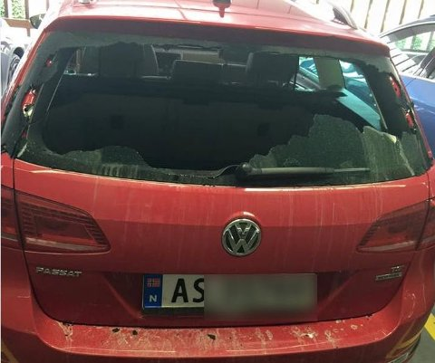 Slik så bilen til en Fredrikstad-mann etter å ha besøkt Göteborg i fjor sommer.