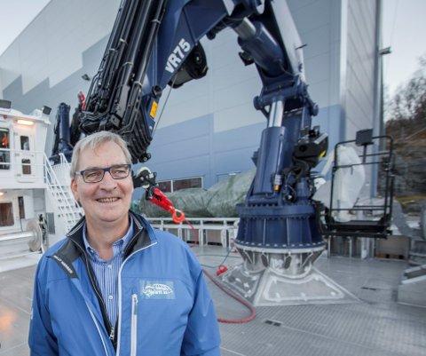 Ottar Bakke, daglig leder i Ballangen Sjøfarm, en jobb han har hatt i 14 år. Planen er å nå 15 år, men da skal ny daglig leder på plass.