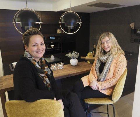 Glad: Marie Føre, er glad og stolt over at JKE Design Narvik er nominert til årets bedrift. Her er hun fotografert sammen med Catrine Stornes Pettersen. Alle foto: Ann-Kristin Hanssen