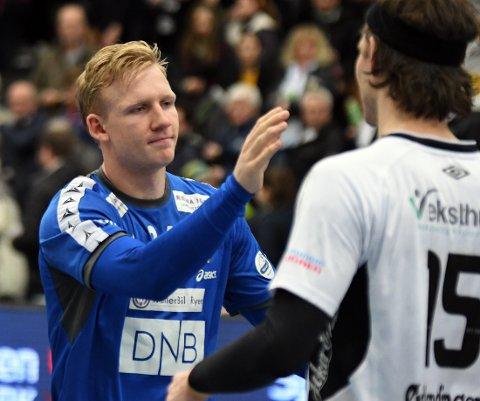 MØTTE KOMMENDE LAGKAMERATER: Kevin Maagerø Gulliksen har spilt fire år i BSK. Neste sesong tar han på seg Elverum-trøya.