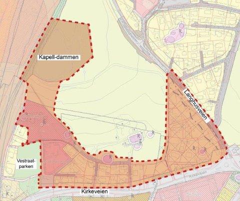 REGULERINGSOMRÅDET: Dette området skal reguleres for å utbytte arealet bedre.