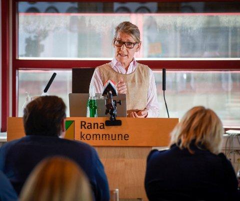 Rana kommune hadde besøk av Helse Nord, Helgelandssykehuset, Merethe Myrvang, Hulda Gunnlaugsdottir og Cesilie Daae.