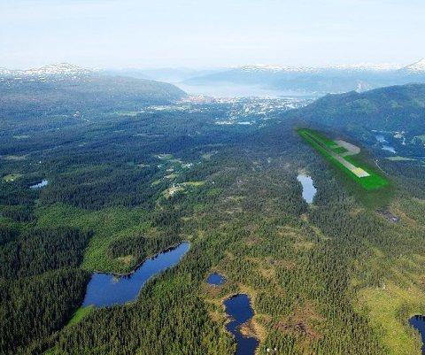 Rune Brennbakk driver selskapet Rune Brennbakk AS, og er fast entreprenør for Allskog. Nå har han fått oppdraget med å rydde flyplassområdet i Rana for skog, og det er ingen liten jobb.