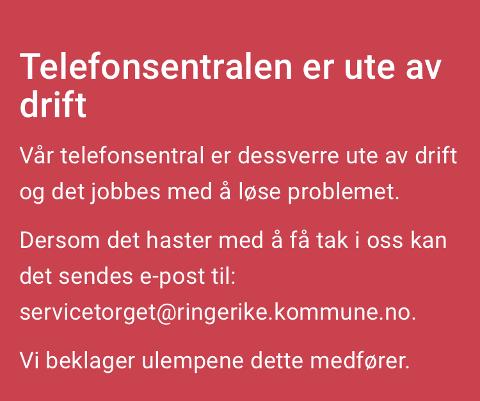FEILMELDING: Denne feilmeldingen fikk innbyggerne. Telefonforbindelsen skal nå være i orden igjen.