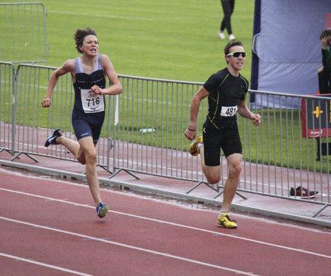 Løper: Martin tar ut alt på 800 m.