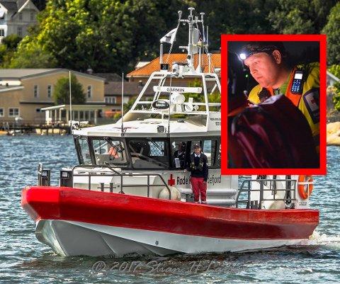 RC jotun er en av Røde Kors' båter i beredskapm der frivillige som Sigbjørn Ljusnes (innfelt) jobber for deg.