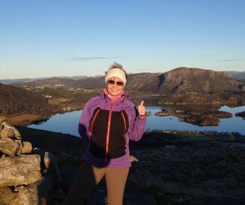 Gro Ravndal Bruarland (53) fra Stangeland, går sin hundrede tur i Sandnes på lørdag.