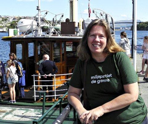 Kollektivtrafikk: Gro Santi Johnsen i Miljøpartiet De Grønne vil jobbe for gratis sundbåt.