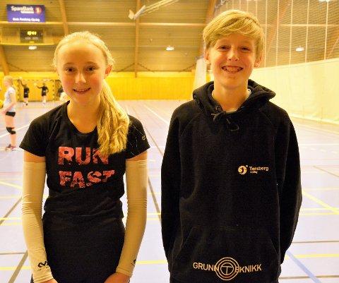 KLARE: Ellissandra Sophie Muller (t.v.) og Henrik Grana skal begge spille for Tønsberg under NM. Muller for første gang, Grana for andre.