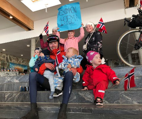 Tor Åge Dyrstad Jørgensen, ble ønsket velkommen hjem av familien sin. - Det var rørende sier han.