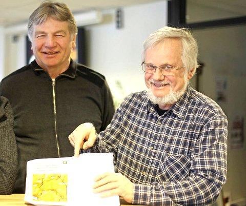 Baard Mikalsen (bak) og Olaf Schaug-Pettersen har satt kampen for Skjoma øverst pådagsordenen.