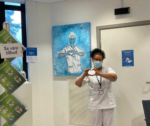 Veronica Sint-Jago gir en hyllest til alle helsearbeidere som har stått på under pandemien.
