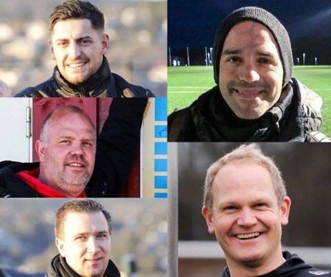 FORTVILET GJENG: Arber Shkodrani (oppe venstre), Robert Svanberg (midten venstre), Thomas Hansen (nede venstre), Esteban Reyes (oppe høyre) og Anders Fredlund (nede venstre) er alle frustrerte over situasjonen i breddefotballen.