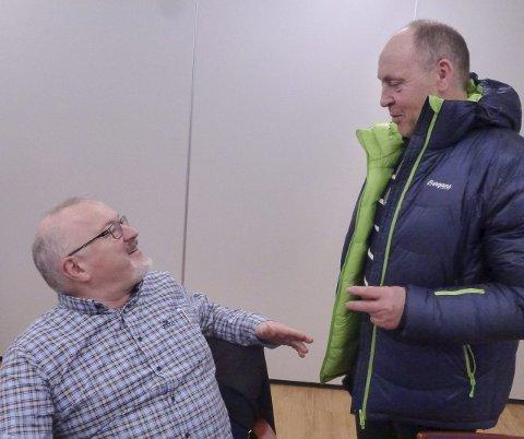 ALLE SKAL MED: Medan Rune Hetland (V) vil ha flest muleg med i ein ny kommune på indre Haugalandet, er Arne Bergsvåg (Sp) meir avventande. Foto: Sigmund Hansen